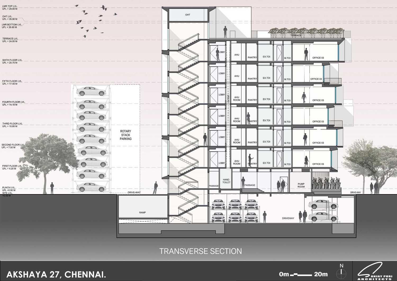 section - transverse SANJAY PURI ARCHITECTS}