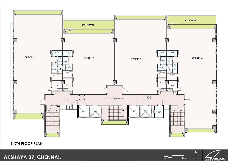 sixth floor plan SANJAY PURI ARCHITECTS}
