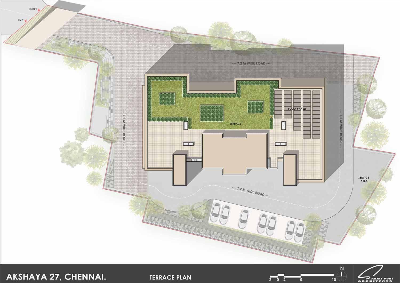 terrace plan SANJAY PURI ARCHITECTS}