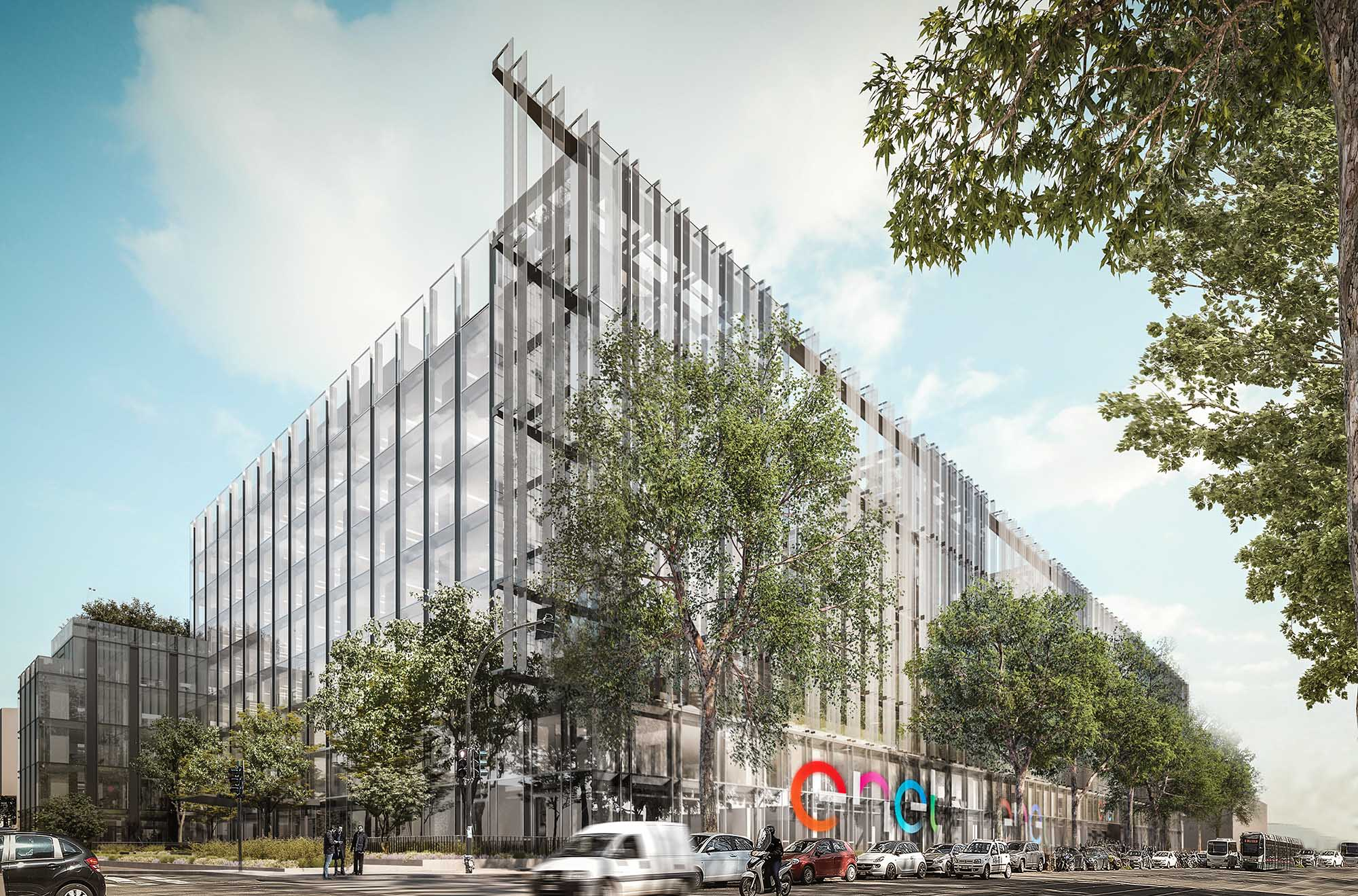 Enel: The Group's headquarters is getting a makeover with a project by the Antonio Citterio Patricia Viel (ACPV) render by Antonio Citterio Patricia Viel