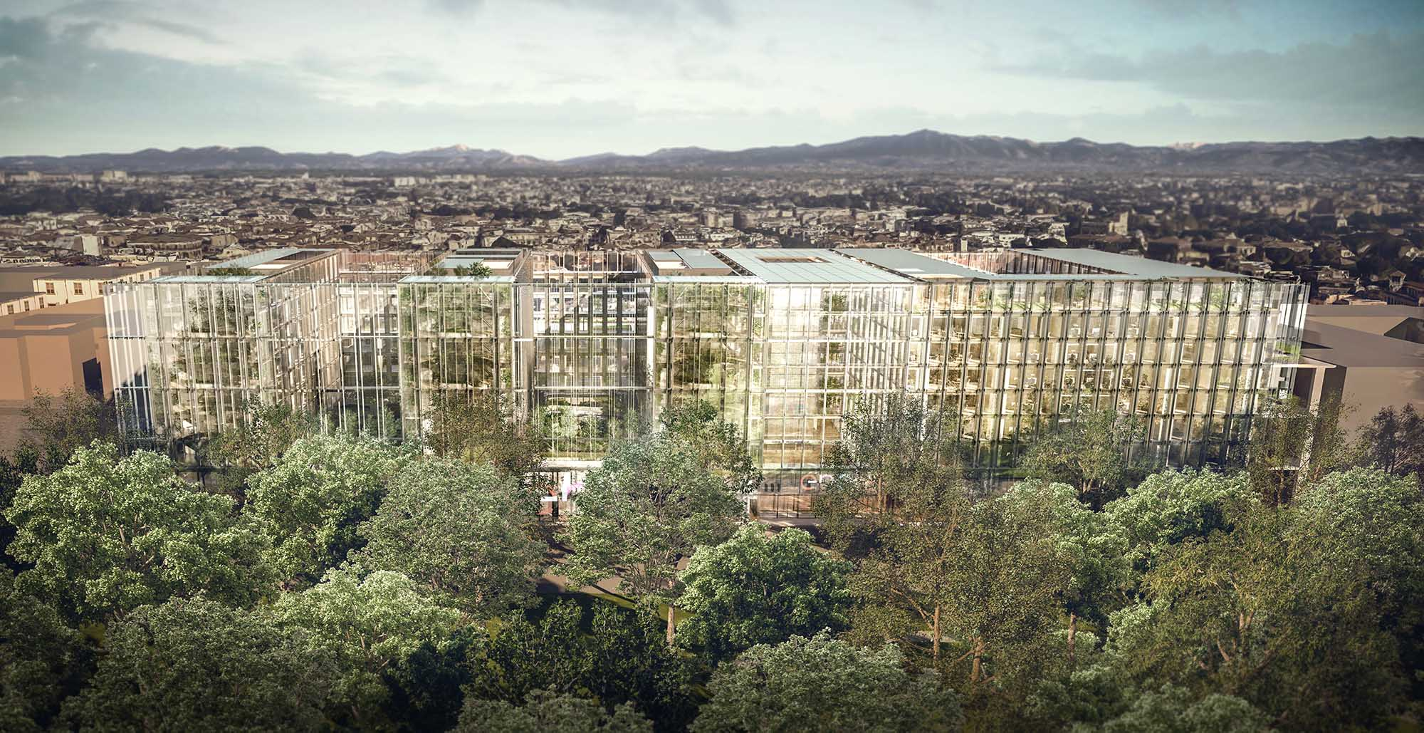 New spaces, greater comfort for employees, lower energy consumption and a project based on innovative and sustainable principles. render by Antonio Citterio Patricia Viel