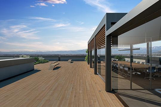 La sala riunioni prevista sul terrazzo UWA}