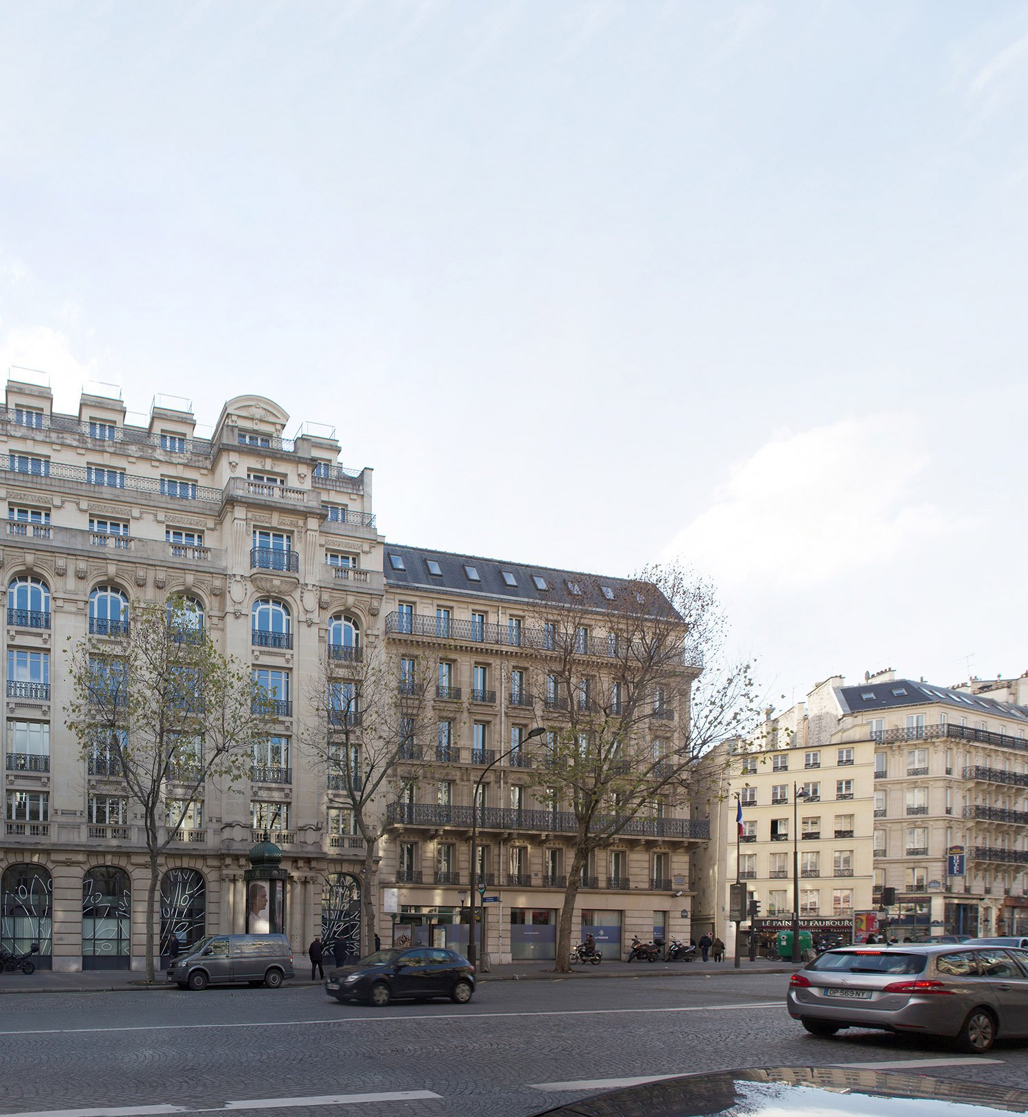 175 Haussmann before its restructuring, from the back view. ©PCA-STREAM}