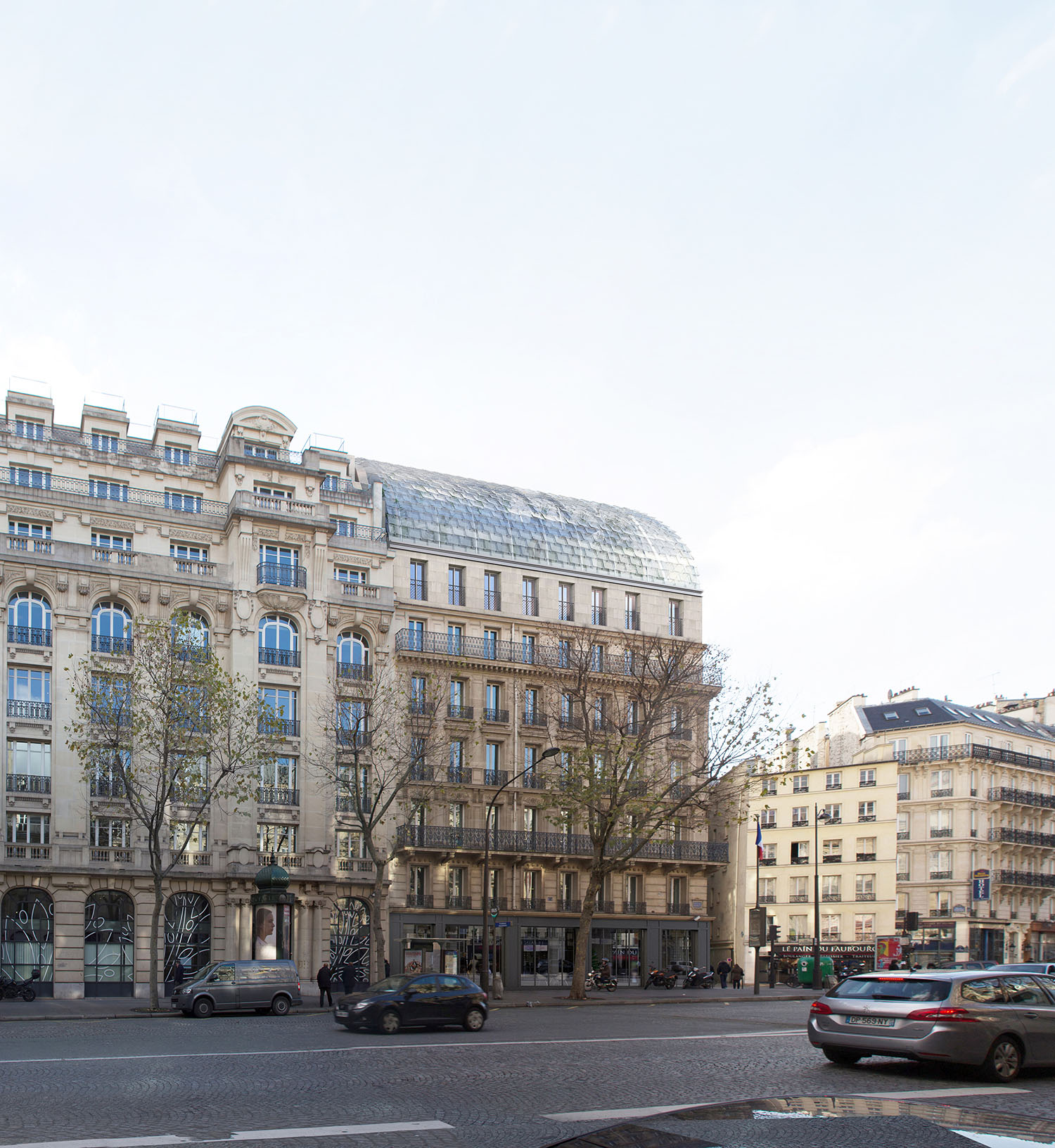 175 Haussmann after its restructuring, from the back view. ©PCA-STREAM}
