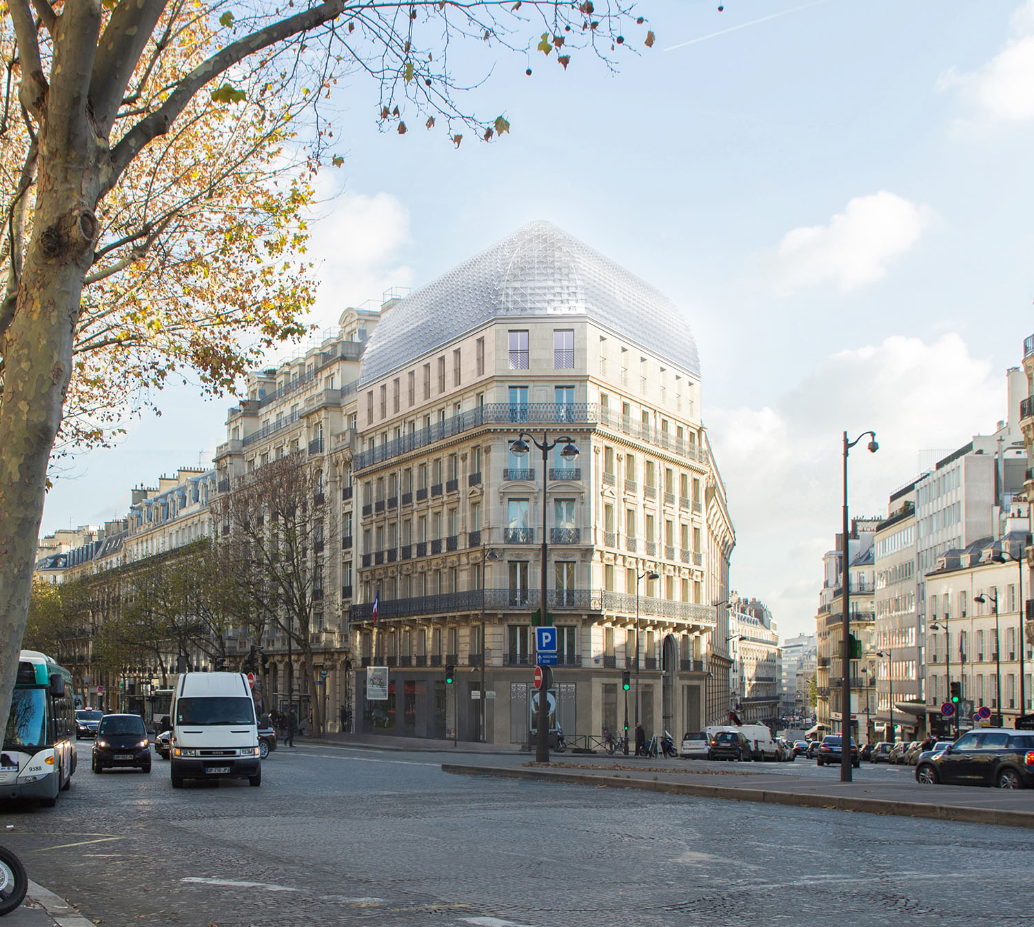 175 Haussmann after its restructuring, from the front view. ©PCA-STREAM}