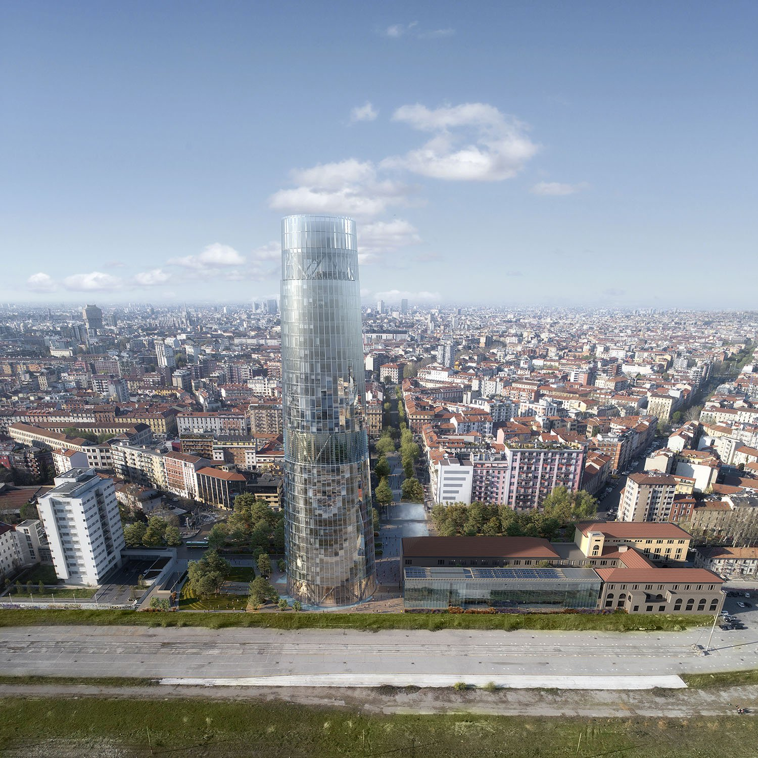 A2A Headquarters (Milan, Italy) render by ACPV
