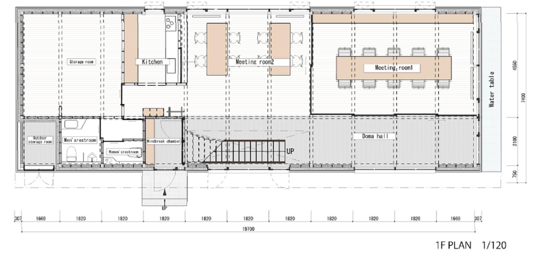 1F Plan Endo Architectural Atelier}