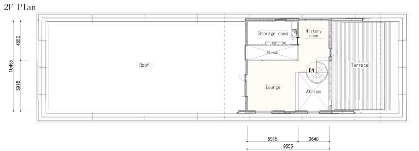 2F Plan Endo Architectural Atelier}