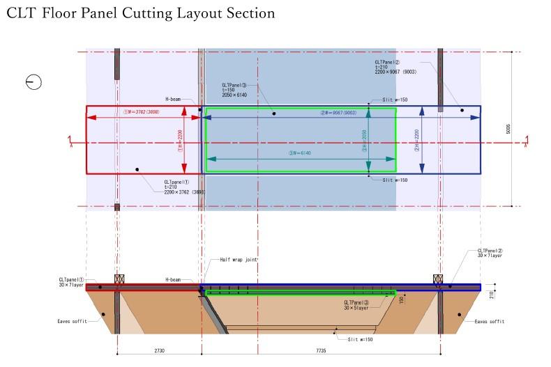 CLT Section Endo Architectural Atelier}