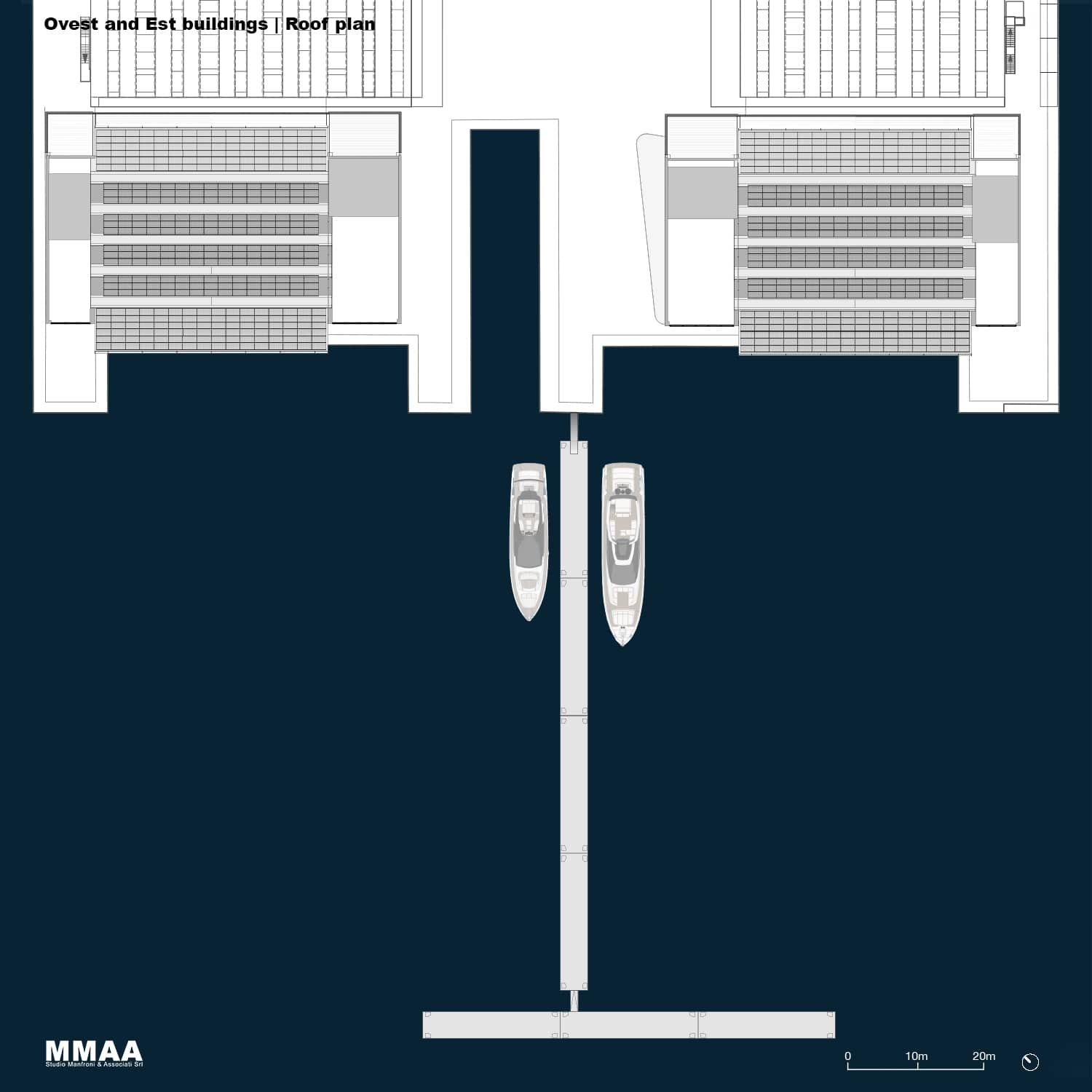 Ovest and East Building - Roof Plan MMAA}