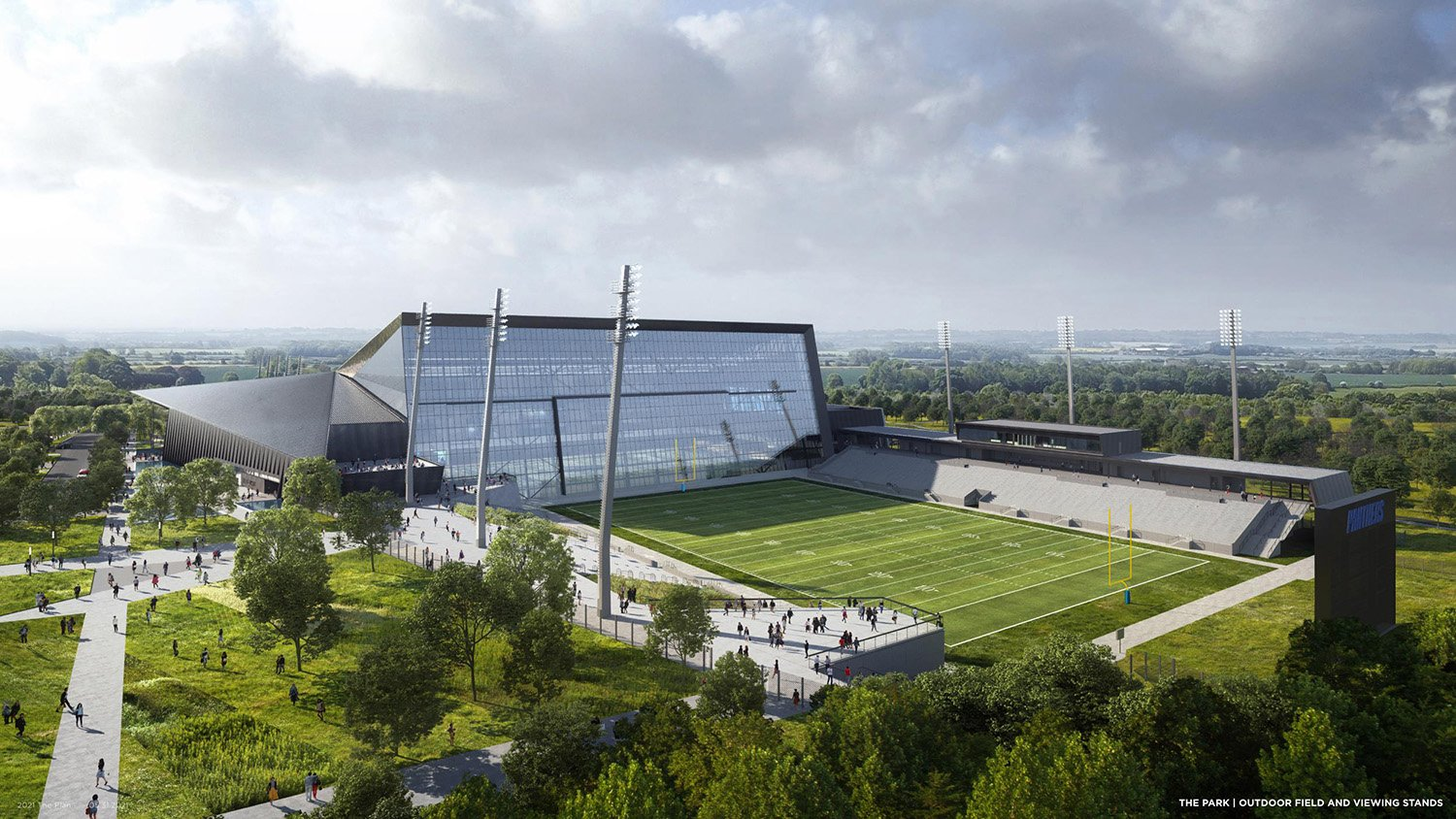 THE PARK|OUTDOOR FIELD AND VIEWING STANDS POPULOUS}