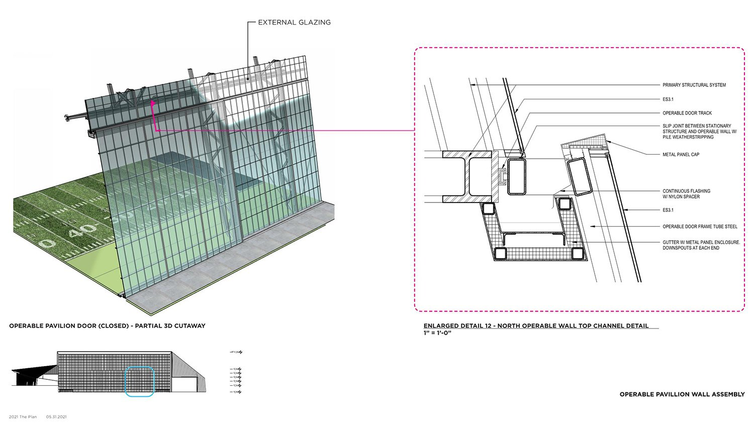 OPERABLE PAVILION WALL ASSEMBLY POPULOUS}