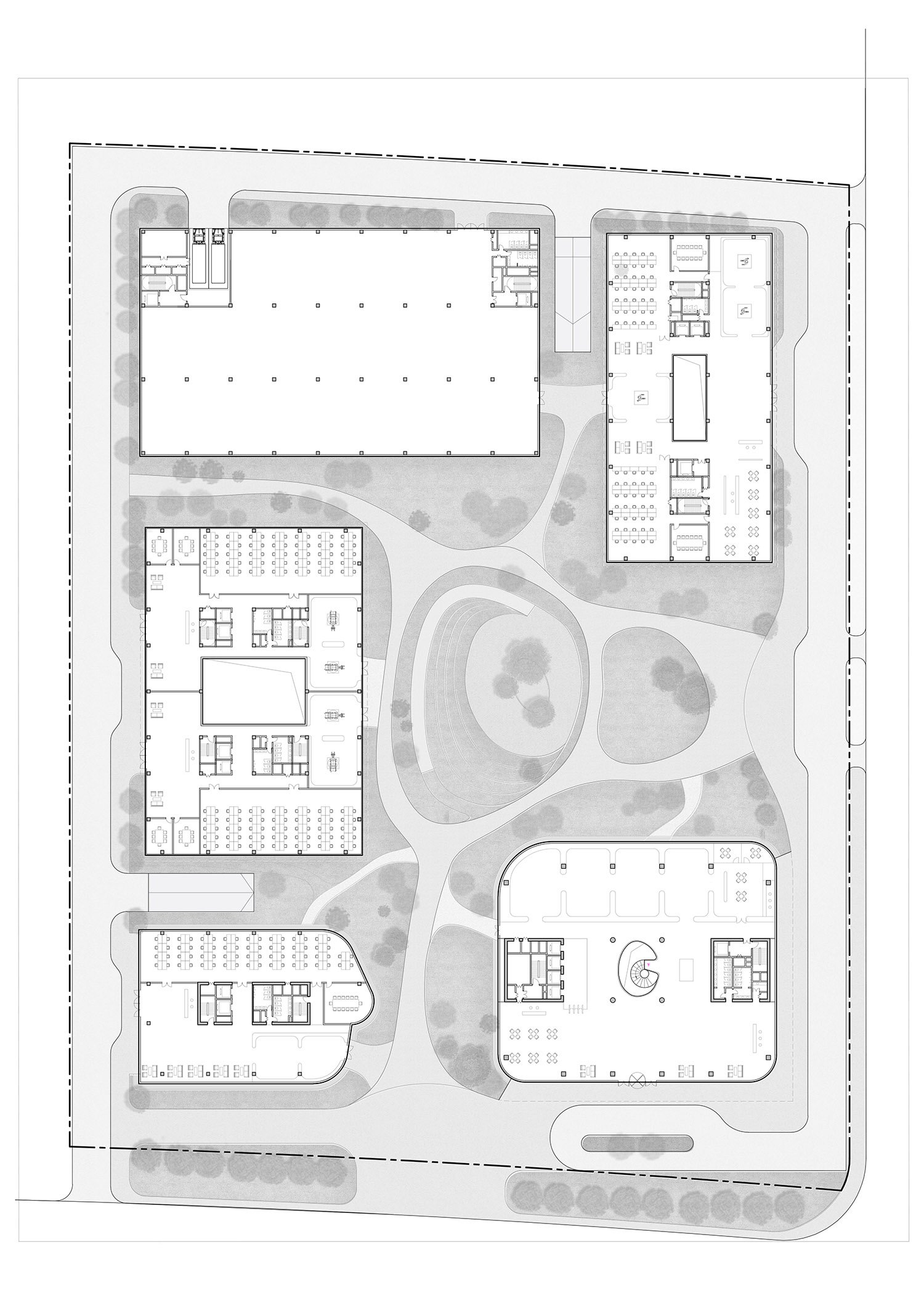 First floor plan Atelier Ping Jiang / EID Arch}