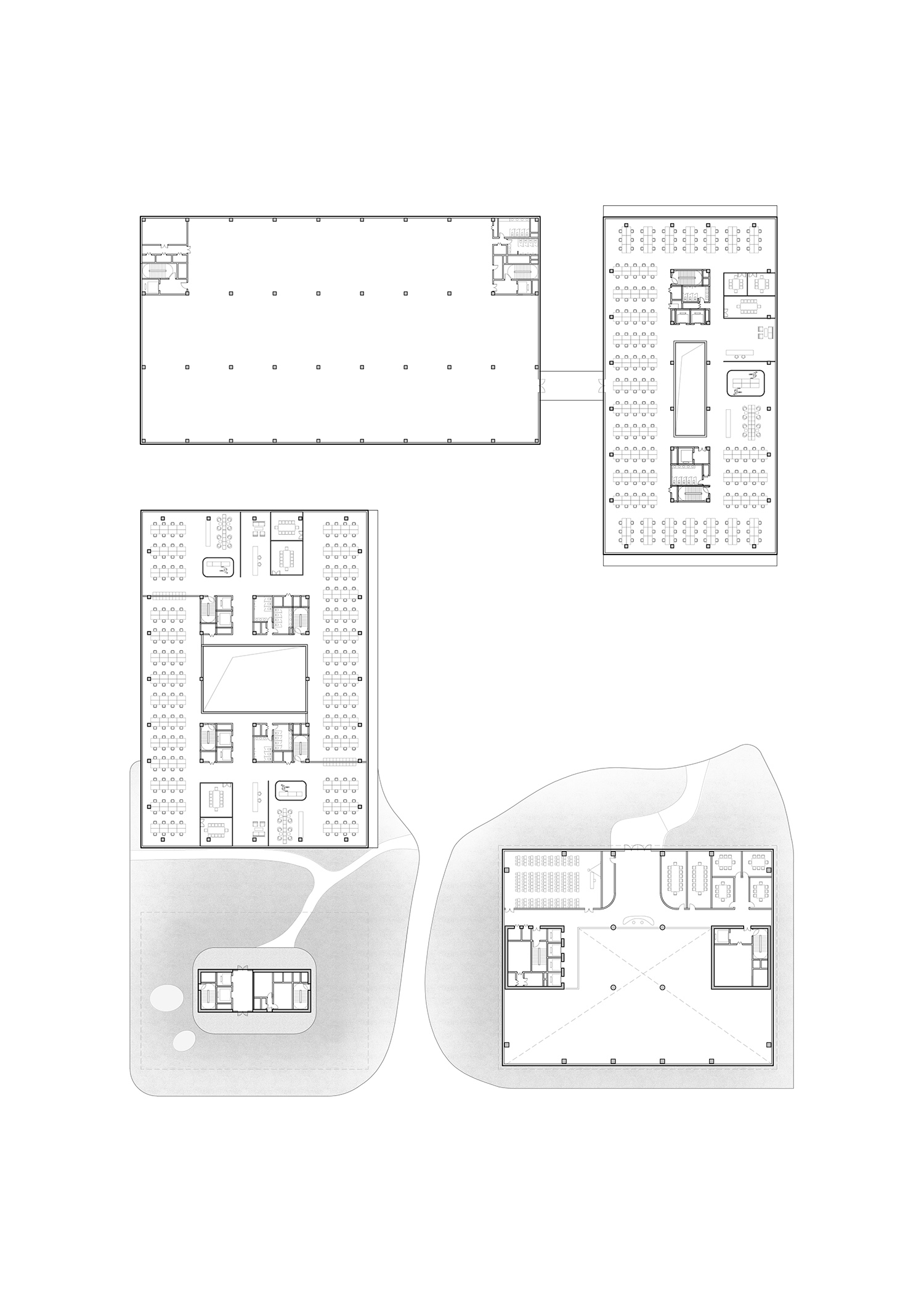 Second floor plan Atelier Ping Jiang / EID Arch}