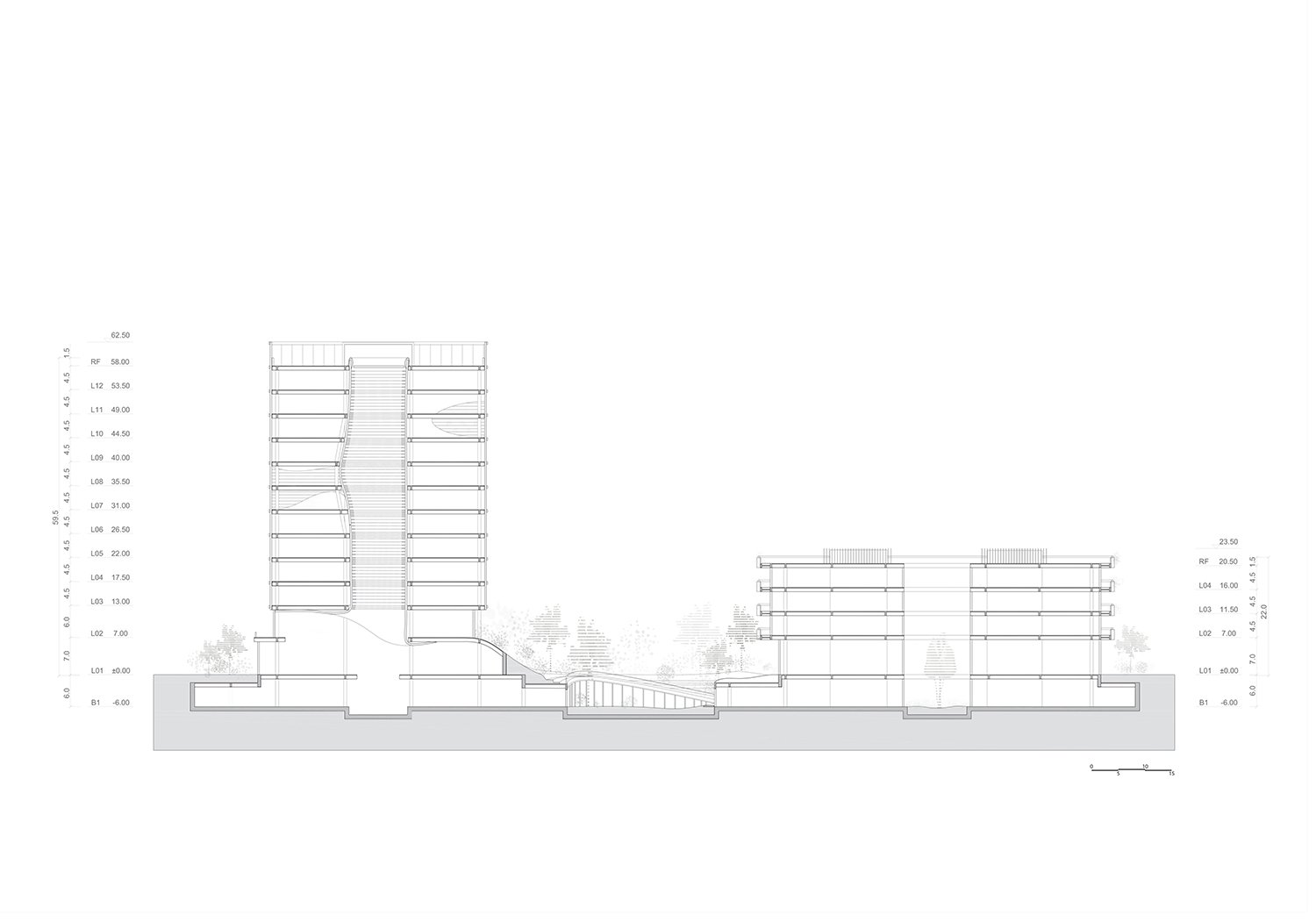 Section Atelier Ping Jiang / EID Arch}