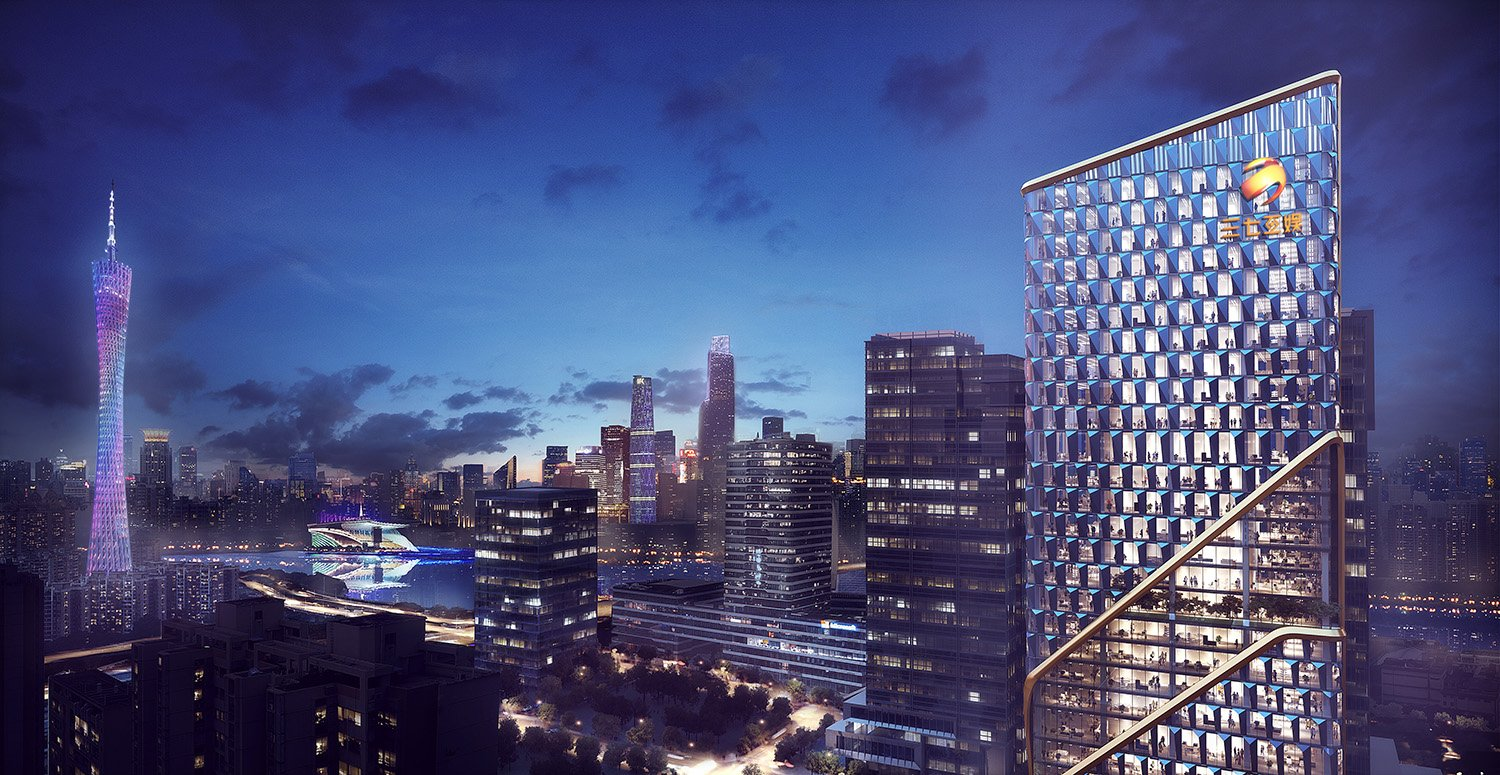 Night View Renderings GWP Architects