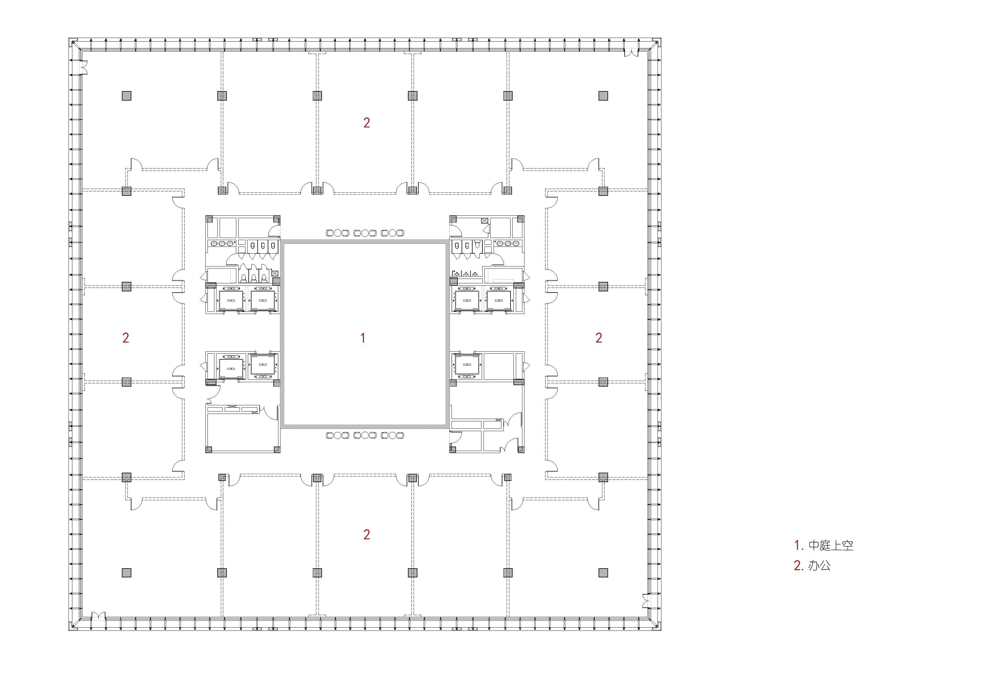 Podium plan 02 The Architectural Design & Research Institute of Zhejiang University Co., Ltd.}