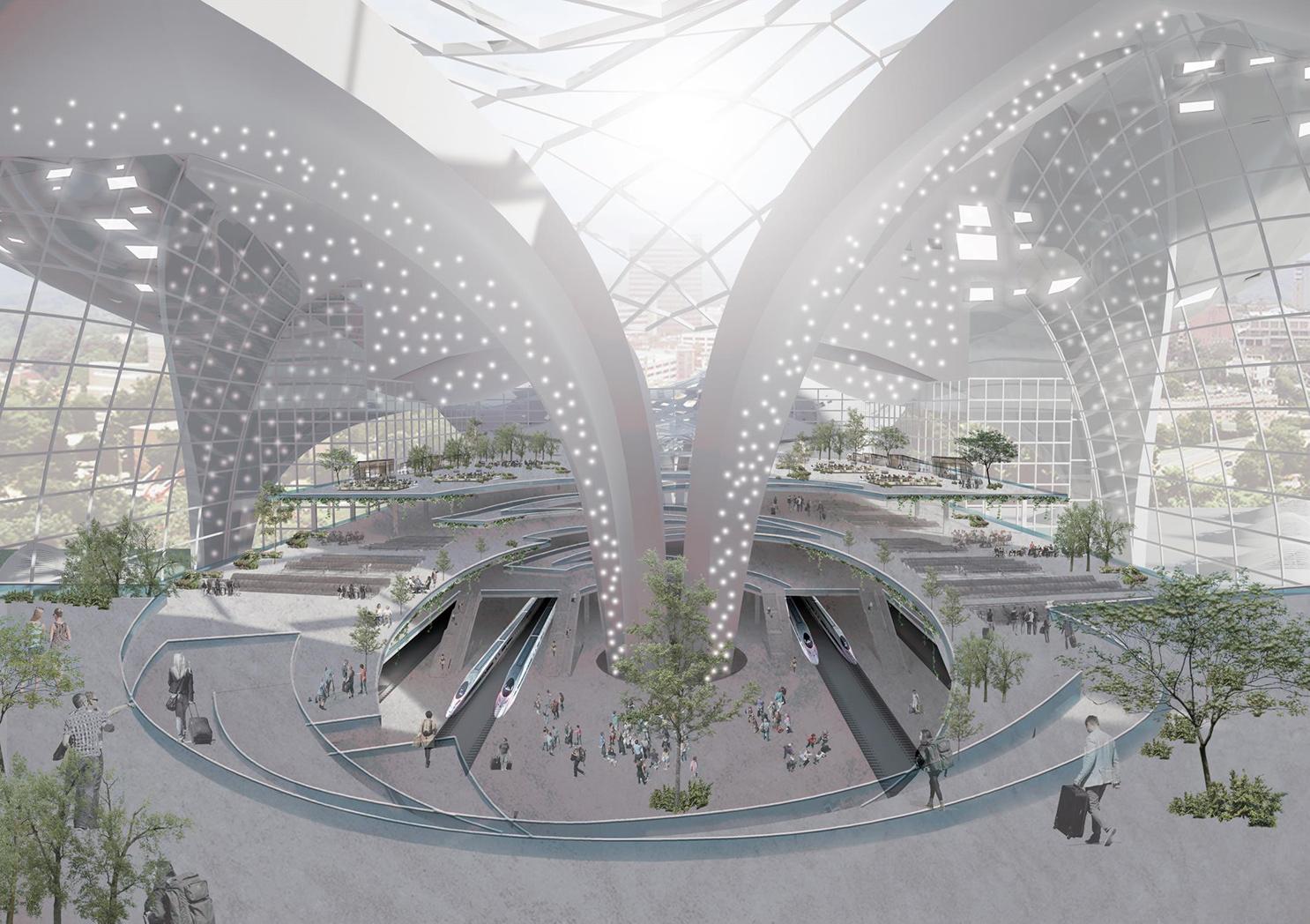 Station interior Ning Zhang