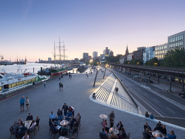 Niederhafen River Promenade in Hamburg by Zaha Hadid Architects Photo by Piet Niemann