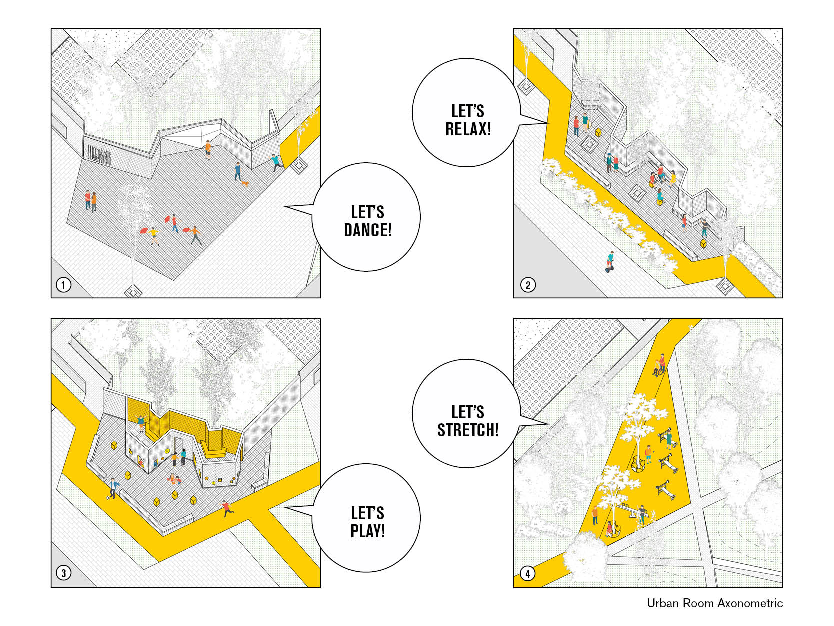 The concept of the four urban rooms Crossboundaries}