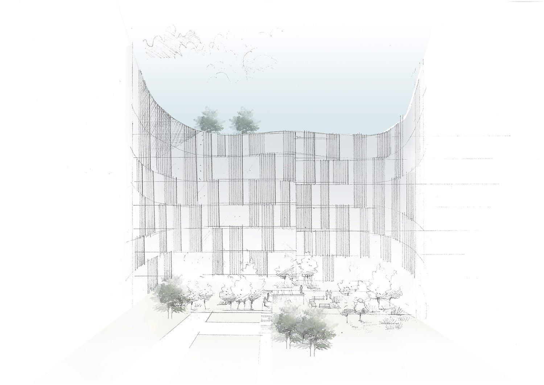 Courtyard sketch Lissoni & Partners}