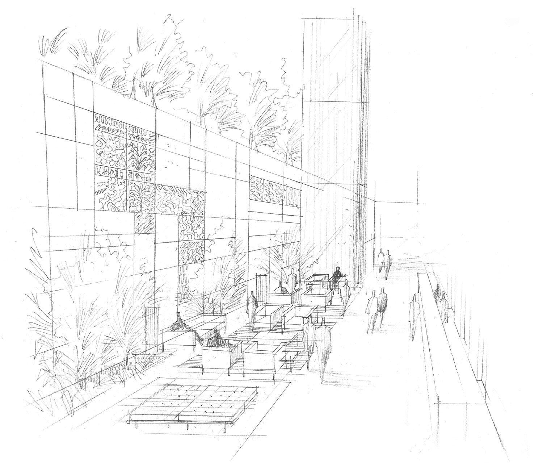 Lobby sketch Lissoni & Partners}