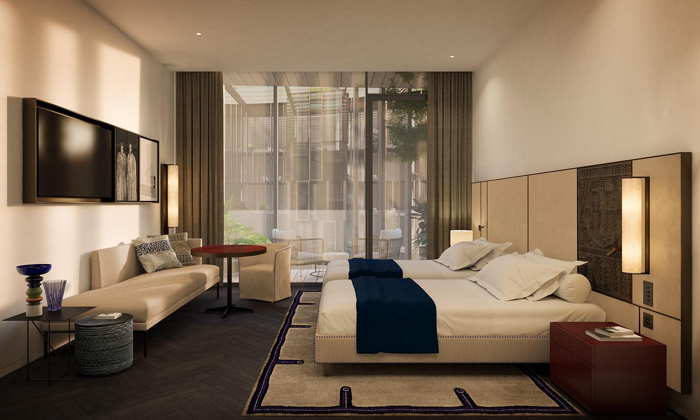 Bedroom contemporary Lissoni & Partners