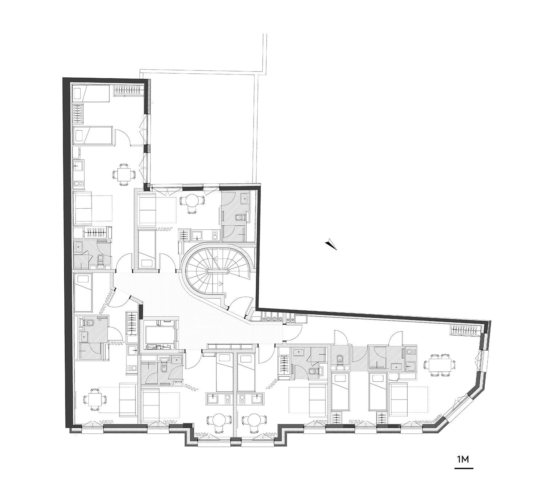 third floor plan CoBe}