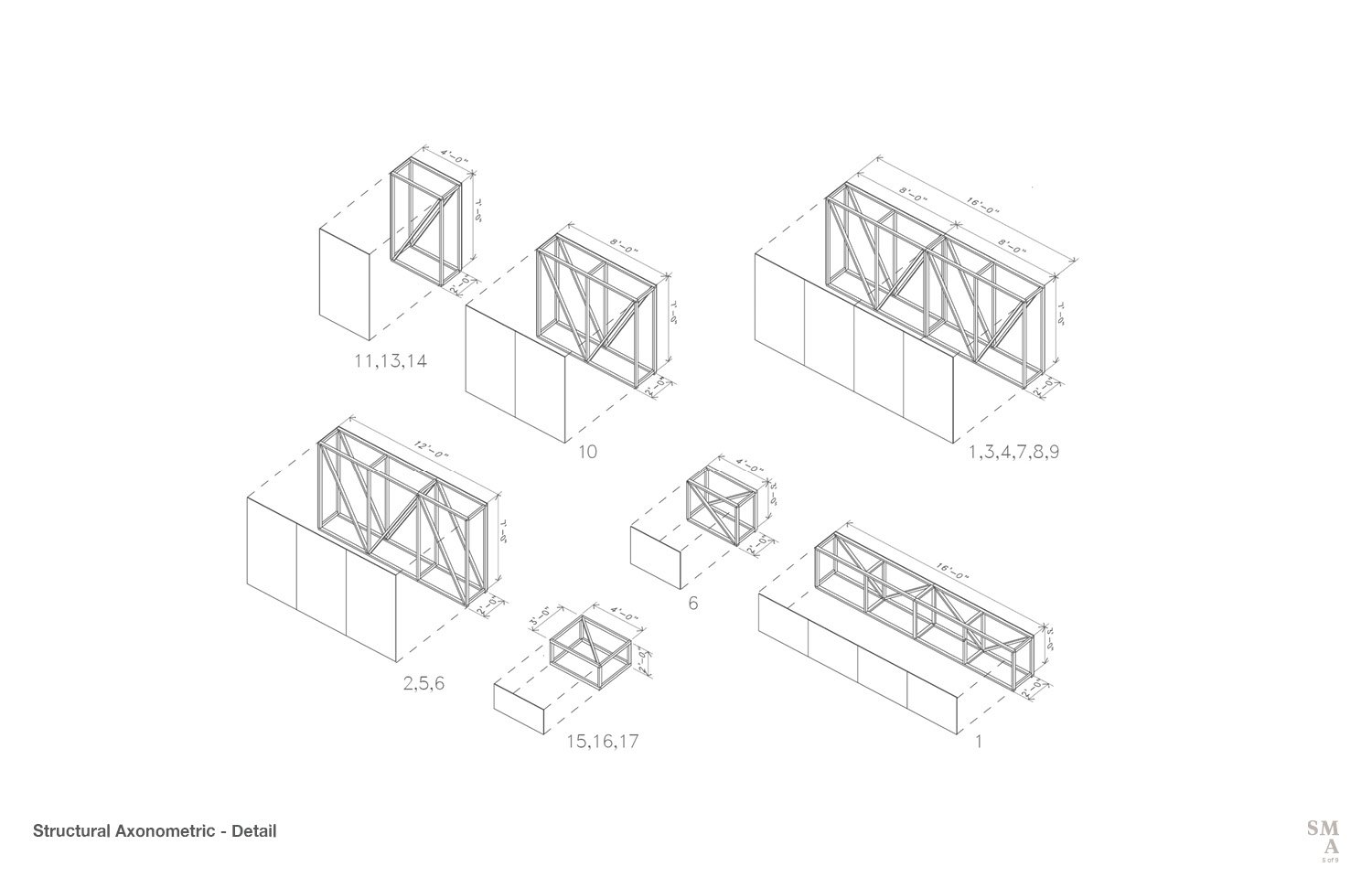 Structural Axonometric - Detail © Stephen Moser Architect}
