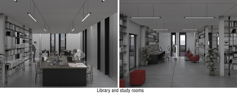 Library and study rooms views Andrea Zattini