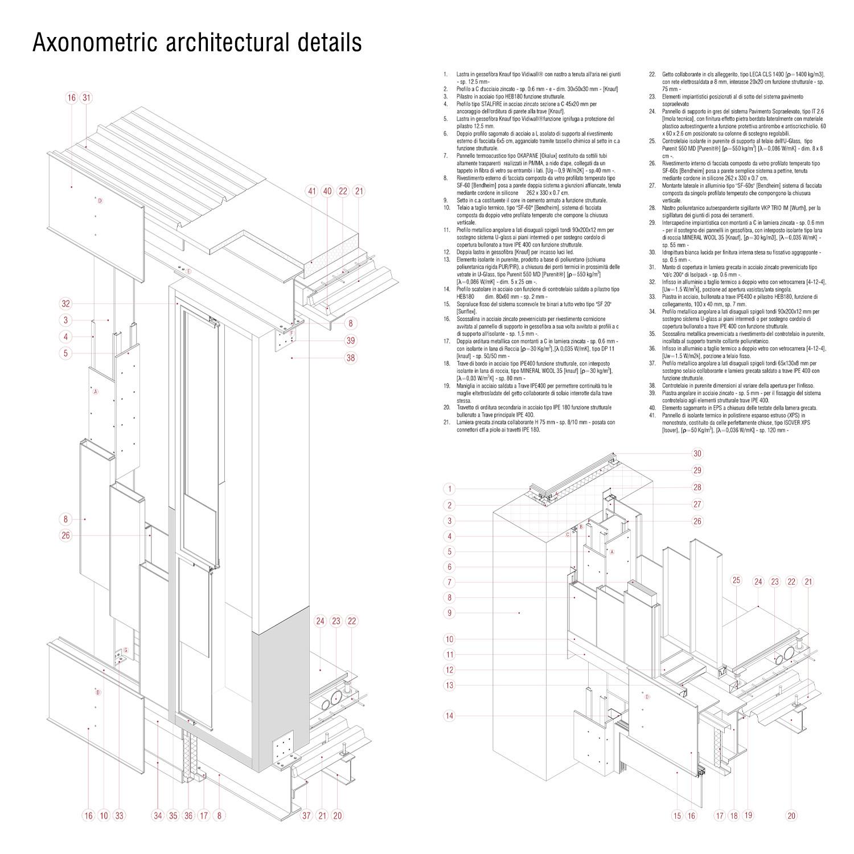 Axonometric architectural details Luca Morganti, Emiliano Lambertini