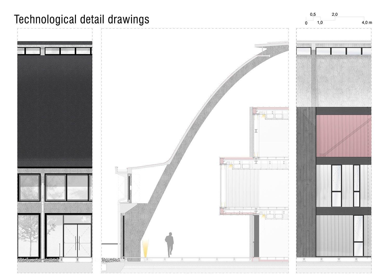 Technological detail drawings Luca Morganti, Emiliano Lambertini