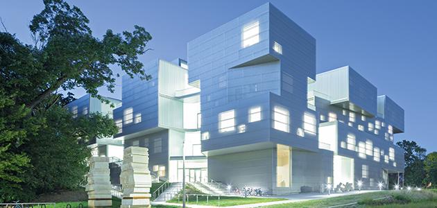 Visual Arts Building presso l'università dell'iowa - Giochi di percezione