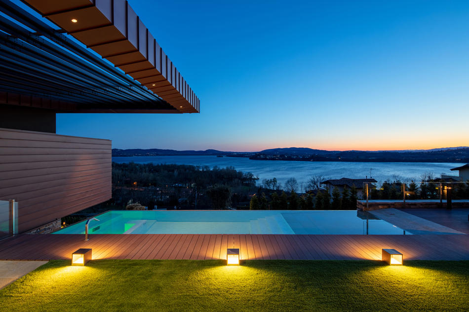 Una residenza in collina con vista sul Lago di Varese