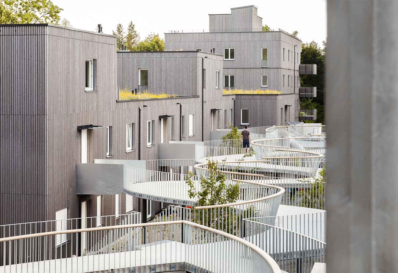 Gemeinsam größer II, complesso residenziale prefabbricato, ecologico