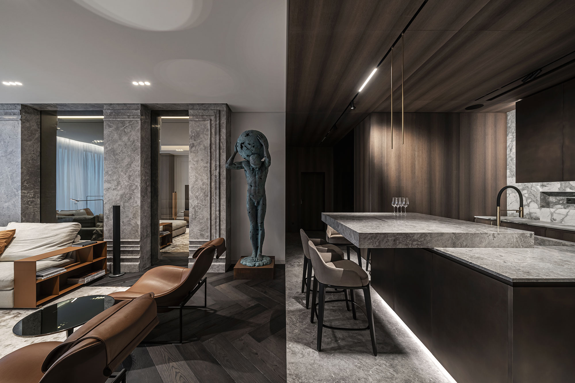 """Colossus Apartment in Kyiv. Rethinking the image of """"a man's home"""""""