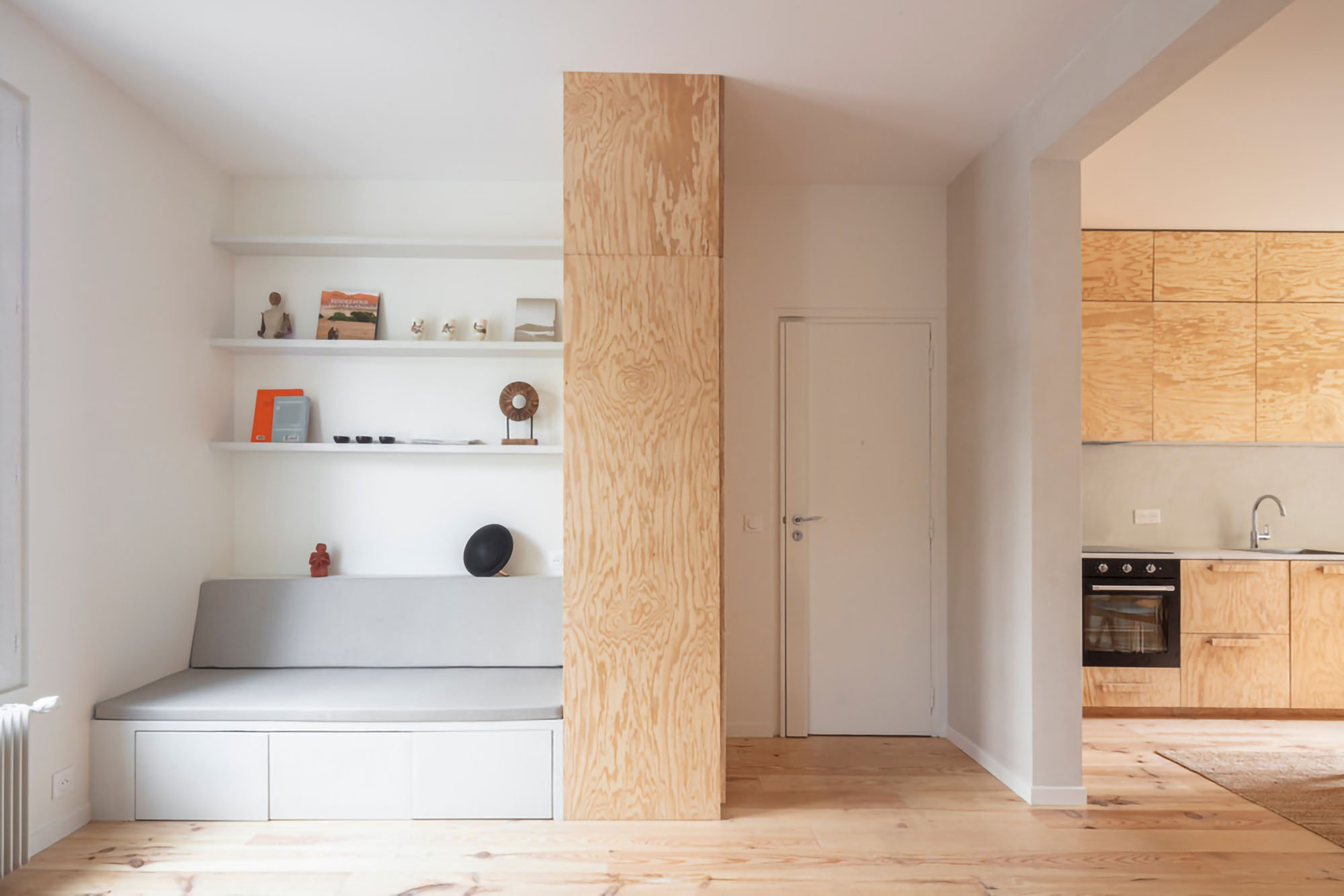 Five elegant wood interiors in sustainable, modern restyling projects