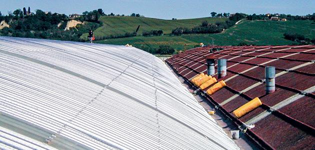 Coverpiù  - Innovazione in copertura con il pannello multistrato curvabile