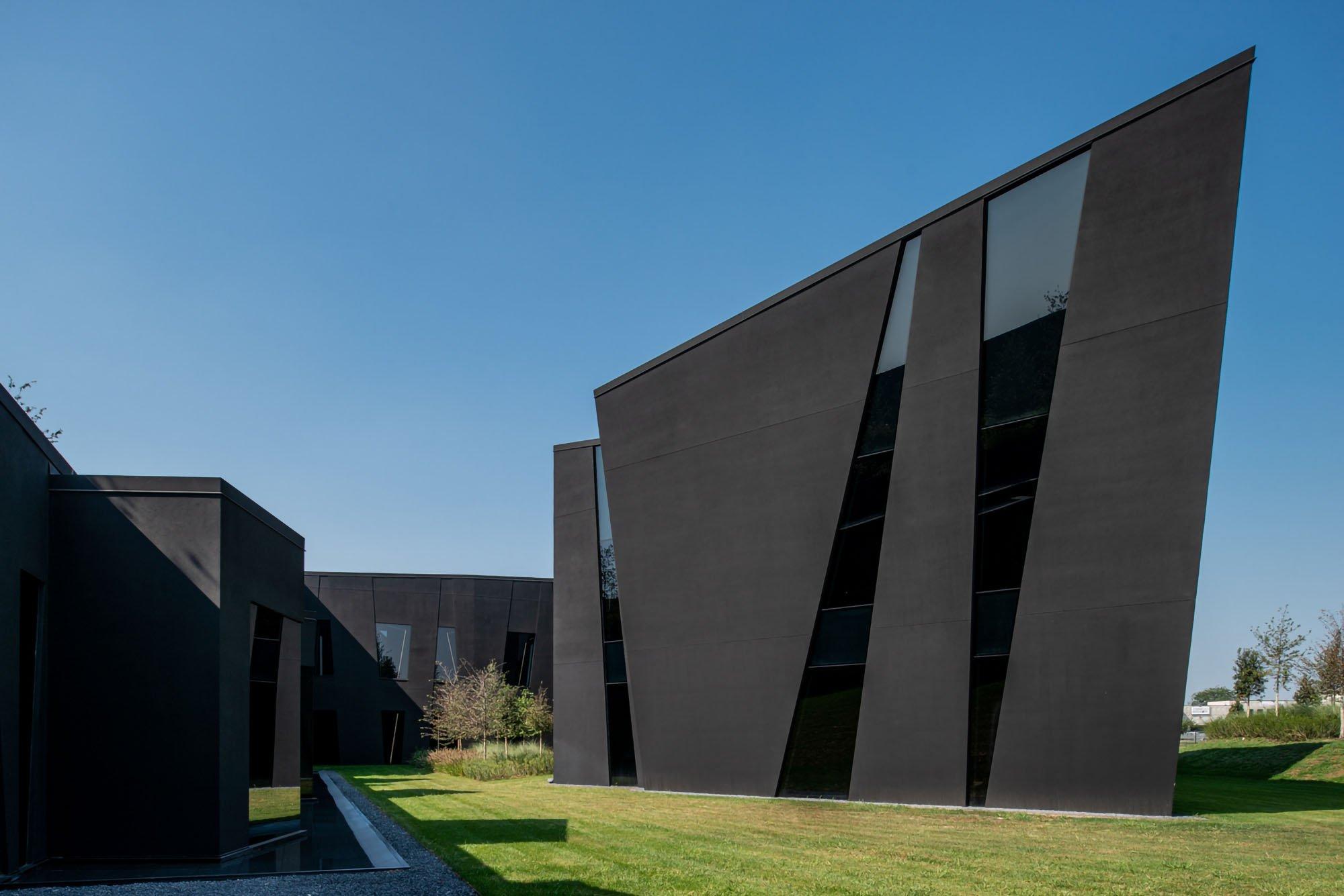 A striking black prism forms Chromavis's new headquarters