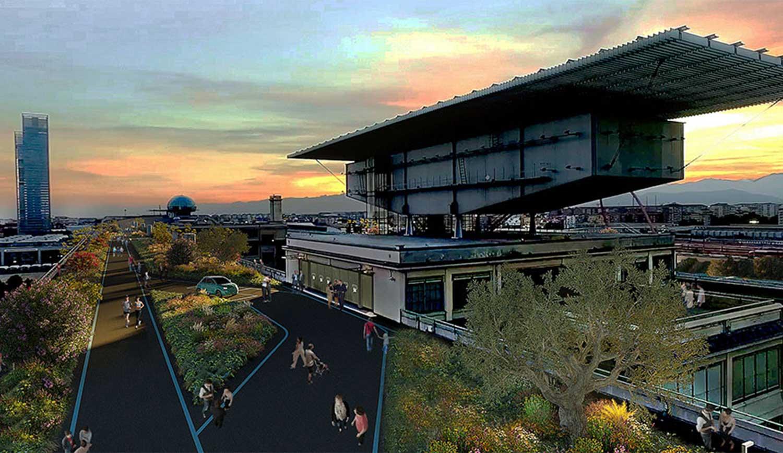 FCA e 500SKYDRIVE, riconversione GREEN  storica pista Lingotto