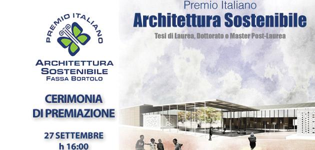 Premio Italiano Architettura Sostenibile Fassa Bortolo