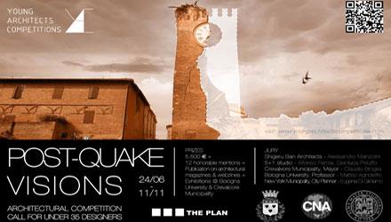 Post Quake Visions, concorso di idee per progettisti under 35