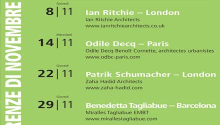 Grandi architetti internazionali al Politecnico di Milano per le Conferenze di Novembre 2012 sull'Architettura Contemporanea promosse dalla Fondazione Sto-Stiftung