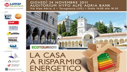 Si conclude l'edizione 2011 dell'Ecotour: la casa a risparmio energetico