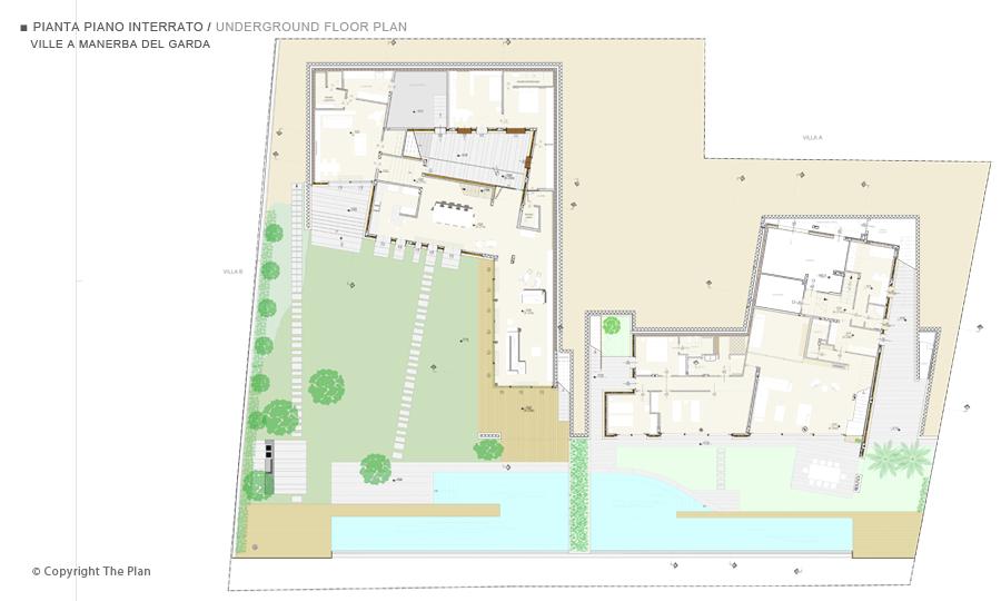 Villa unifamiliare a manerba del garda for Piani a pianta aperta con piano seminterrato