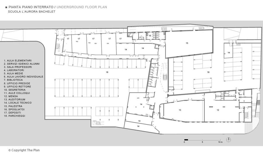 Scuola l aurora v bachelet for Come progettare una pianta del piano interrato