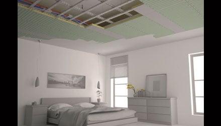 Sistema radiante a soffitto e parete b!klimax di RDZ