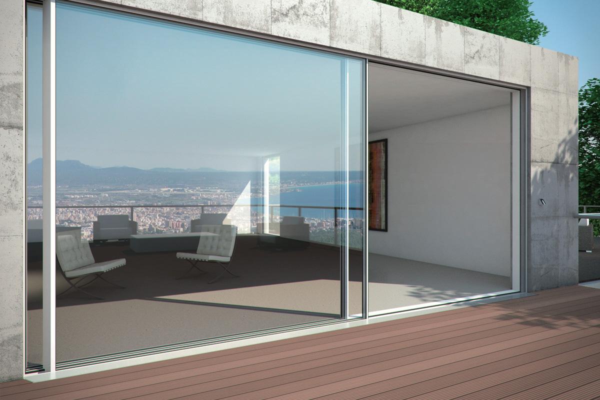 Porte e finestre scorrevoli ASS 77 PD.SI Massima trasparenza  ed efficienza termica