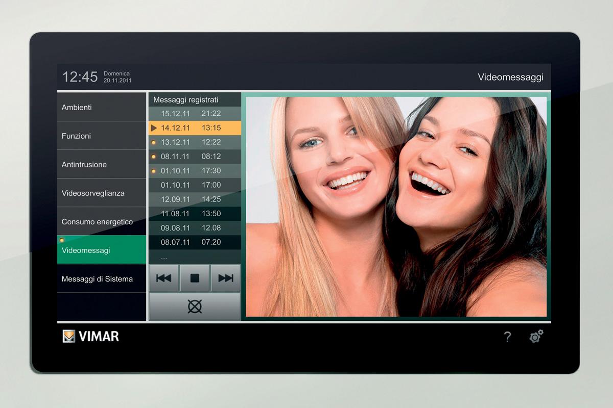 """Multimedia video touch 10"""" Domotica e design"""