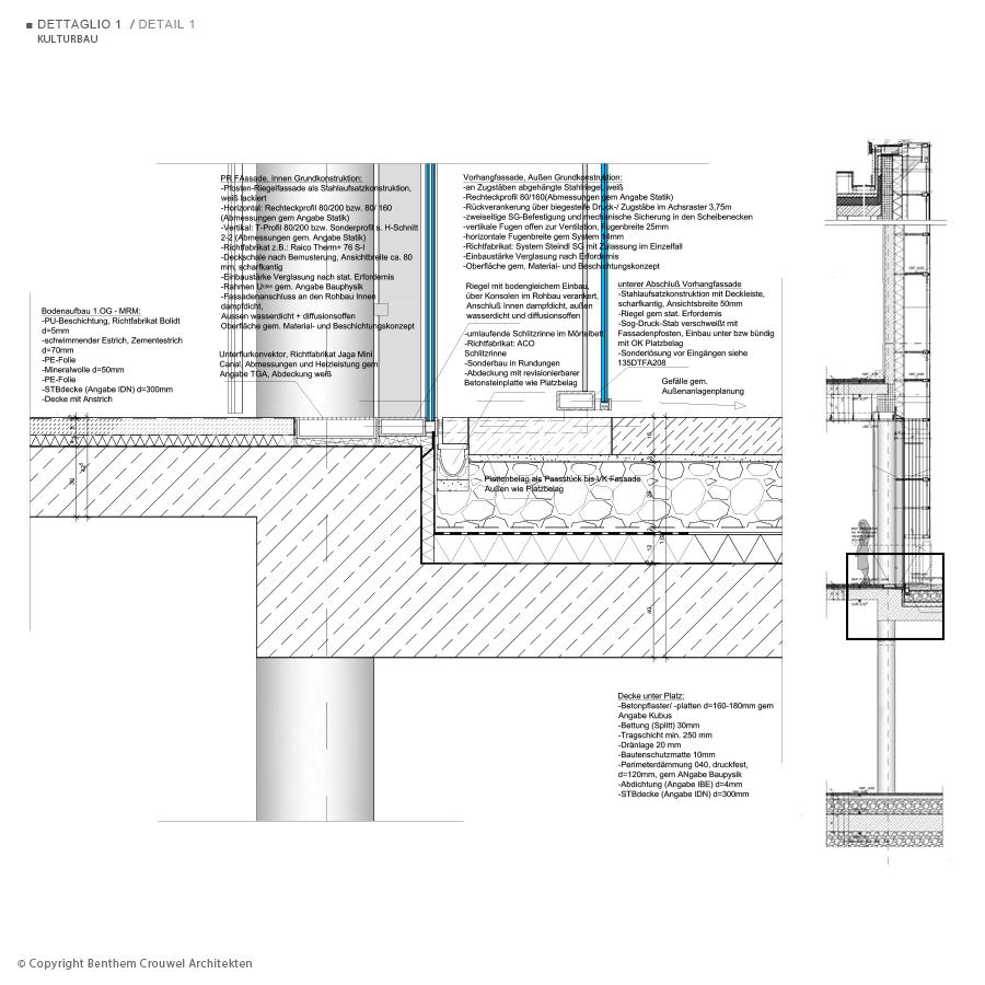 corten steel wall section detail bing images. Black Bedroom Furniture Sets. Home Design Ideas
